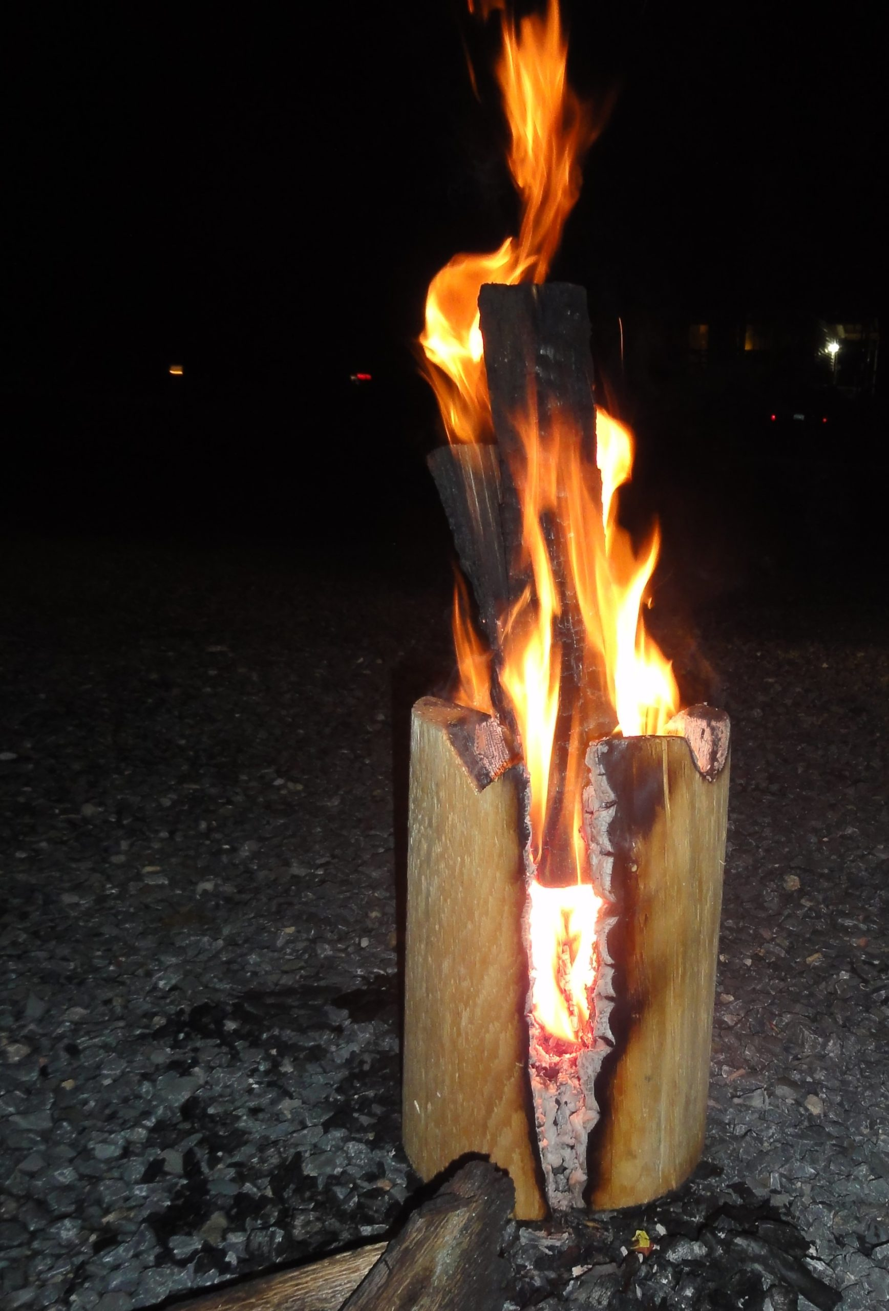 A log on fire