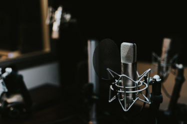 Microphone in a studio