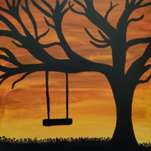 Swinging in the Sunset 16x20 canvas 7 Things Gratitude is Not
