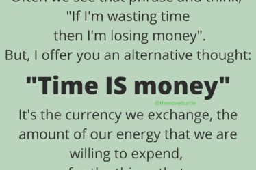 Time IS money, use it wisely.